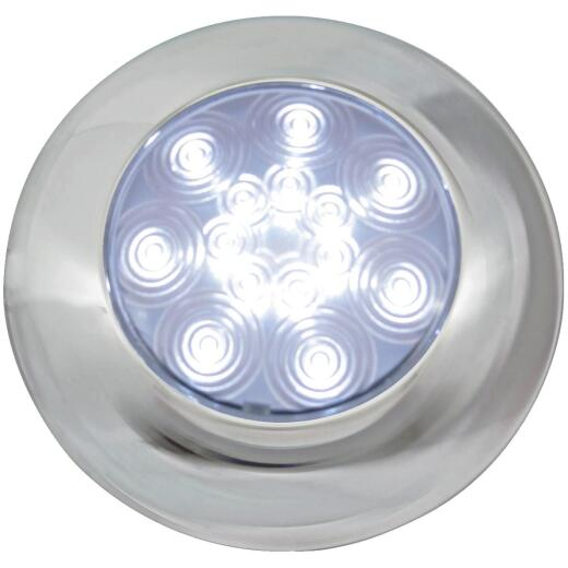 Peterson 9-16 V. White Round Dome Light