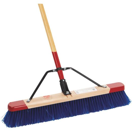 Harper 24 In. W. x 65 In. L. Wood Handle Rough Surface Push Broom