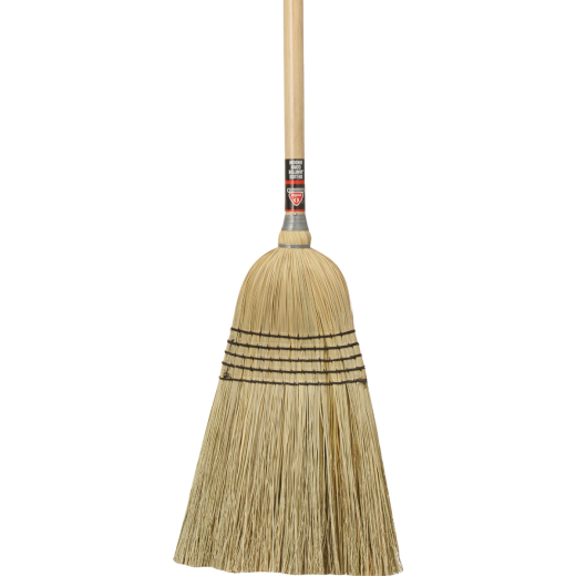 Nexstep 14 In. W. x 59 In. Lacquered Wood Handle Commercial Janitor Corn Broom