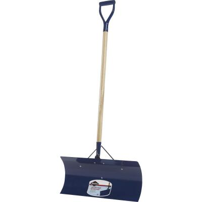 Garant Yukon 24 In. Steel Snow Pusher with 48 In. D-Grip Wood Handle