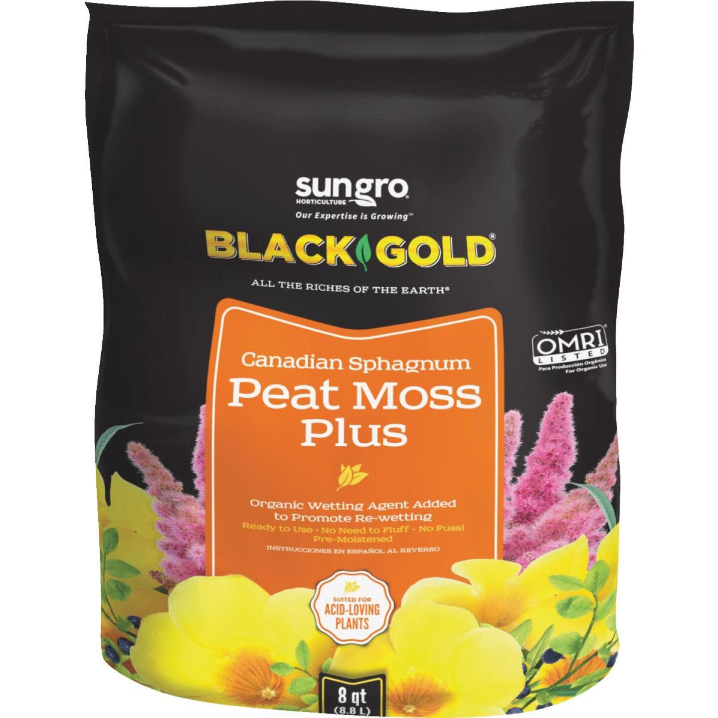 Black Gold 3 Lb. 8 Qt. Sphagnum Peat Moss Plus Image 1