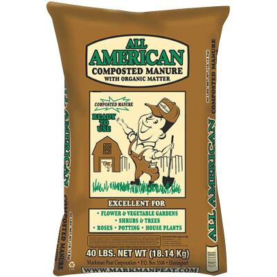 All American 40 Lb. 4 Sq. Ft. Coverage Cow Manure