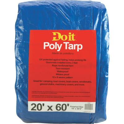 Do it Blue Woven 20 Ft. x 60 Ft. Medium Duty Poly Tarp