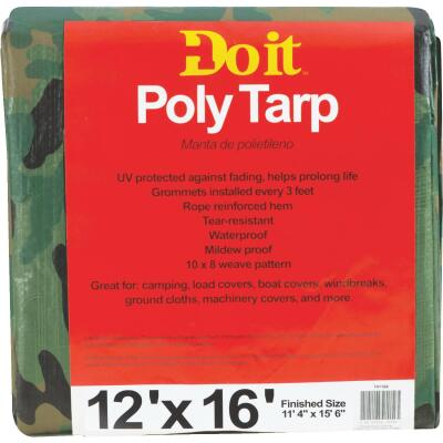 Do it Camo Woven 12 Ft. x 16 Ft. Medium Duty Poly Tarp