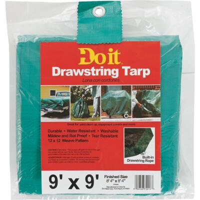 Do it 9 Ft. x 9 Ft. Poly Fabric Green Lawn Cleanup Tarp