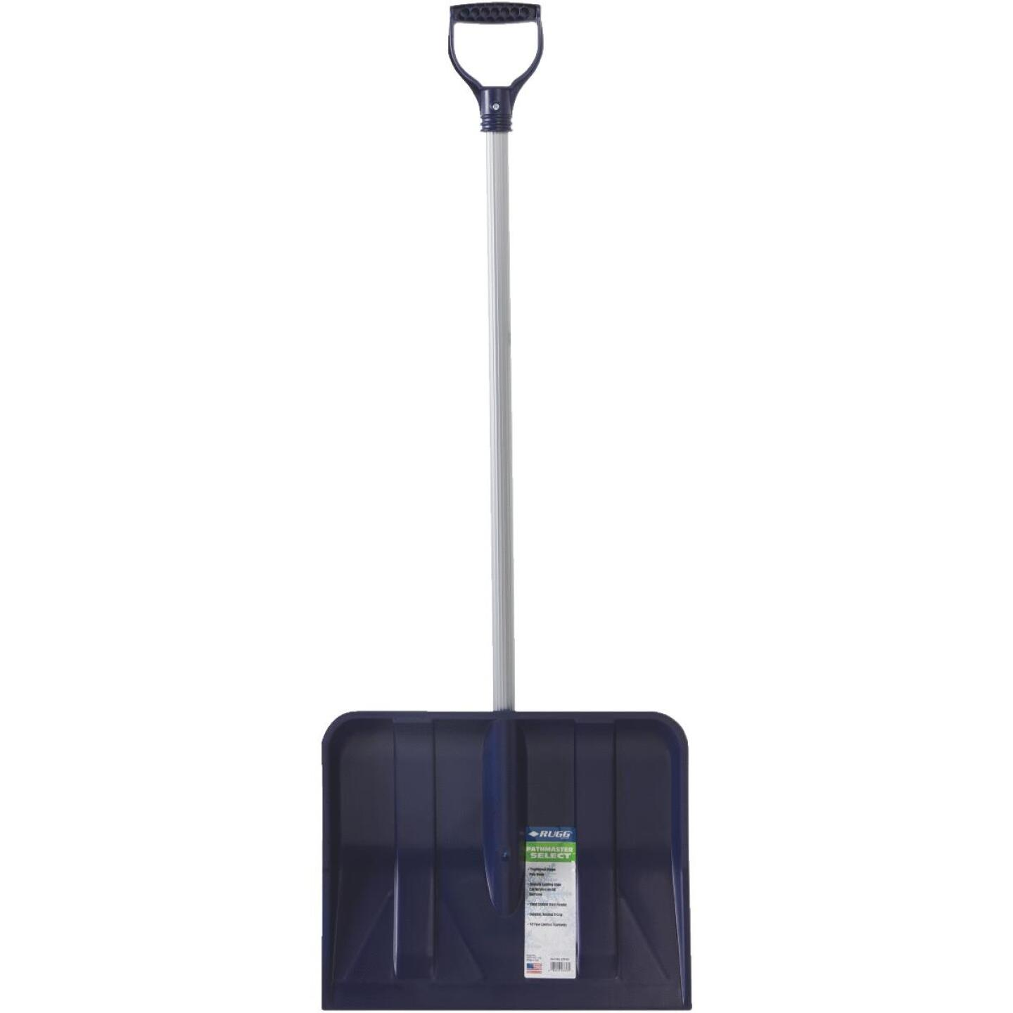 Rugg 18 In. Poly Snow Shovel with 35 In. Steel Handle Image 3