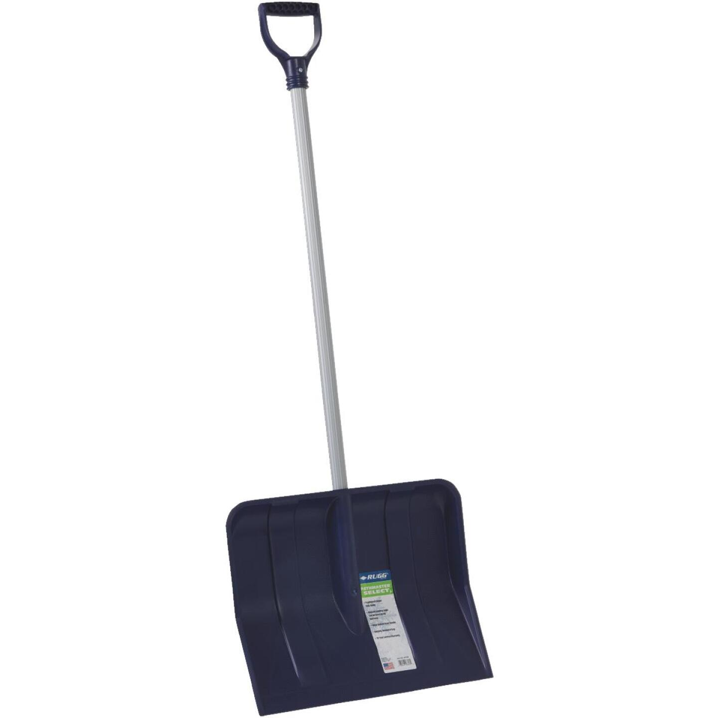 Rugg 18 In. Poly Snow Shovel with 35 In. Steel Handle Image 1
