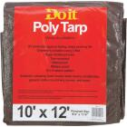 Do it Green/Brown Woven 10 Ft. x 12 Ft. Medium Duty Poly Tarp Image 1
