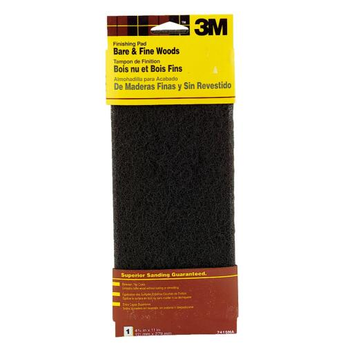 3M 4-1/2 In. x 11 In. Wood Finishing Abrasive Stripping Pad
